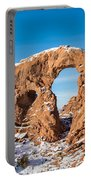 Turret Arch In Winter Portable Battery Charger