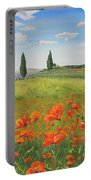Tuscan Poppies-b Portable Battery Charger