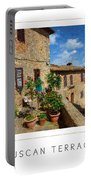 Tuscan Terrace Poster Portable Battery Charger