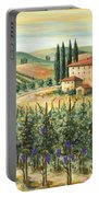 Tuscan Vineyard And Villa Portable Battery Charger by Marilyn Dunlap