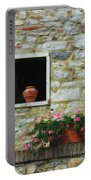 Tuscan Window And Flower Pot Portable Battery Charger