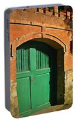 Tuscany Door With Horse Head Carvings Portable Battery Charger