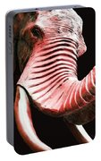 Tusk 4 - Red Elephant Art Portable Battery Charger