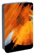 Tutu Stage Left Abstract Orange Portable Battery Charger