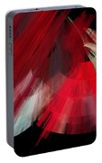 Tutu Stage Left Red Abstract Portable Battery Charger