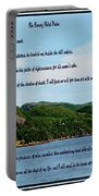 Twenty Third Psalm And Mountains Portable Battery Charger