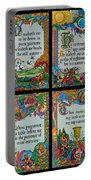 Twenty Third Psalm Collage 2 Portable Battery Charger