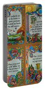 Twenty Third Psalm Collage Portable Battery Charger