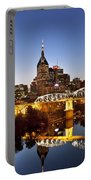 Twilight Over Nashville Tennessee Portable Battery Charger