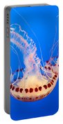 Twin Dancers - Large Colorful Jellyfish Atlantic Sea Nettle Chrysaora Quinquecirrha  Portable Battery Charger