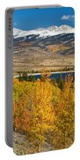Twin Lakes Colorado Autumn Landscape Portable Battery Charger