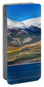 Twin Lakes Colorado Autumn Panorama Portable Battery Charger