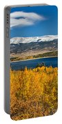 Twin Lakes Colorado Autumn Snow Dusted Mountains Portable Battery Charger by James BO  Insogna