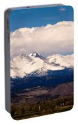 Twin Peaks Snow Covered Portable Battery Charger