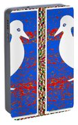 Twin Souls Love Birds Snow White Color Portable Battery Charger