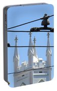Twin Spires And Trolley Lines Portable Battery Charger