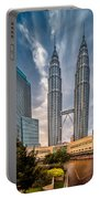 Twin Towers Kl Portable Battery Charger by Adrian Evans
