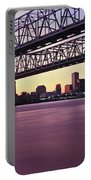 Twins Bridge Over A River, Crescent Portable Battery Charger