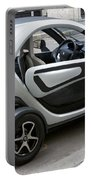 Twizy Rental Electric Car Side And Back Milan Italy Portable Battery Charger