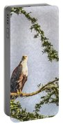 Two African Fish Eagles Haliaeetus Vocifer  Portable Battery Charger