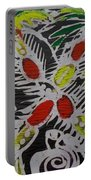 Two Beautiful Painted Palm Tree With Keg. Portable Battery Charger