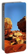 Two Big Rocks At Capital Reef Portable Battery Charger by Jeff Swan
