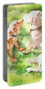 Two Brothers Labradors Portable Battery Charger by Irina Sztukowski