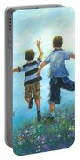 Two Brothers Leaping Portable Battery Charger