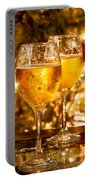 Two Champagne Glasses Ready To Bring In The New Year Portable Battery Charger