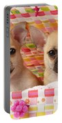 Two Chihuahuas Portable Battery Charger by Greg Cuddiford