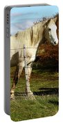 Two Children Admire Horses Portable Battery Charger