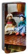 Two Colonial Rag Dolls Portable Battery Charger