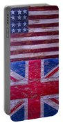 Two Flags American And British Portable Battery Charger