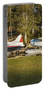 Two Float Planes On Moosehead Lake Near Greenville Maine  Portable Battery Charger