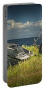 Two Forlorn Abandoned Boats On Prince Edward Island Portable Battery Charger