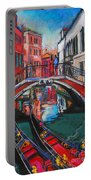 Two Gondolas In Venice Portable Battery Charger