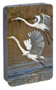 Two Greater Egrets  Portable Battery Charger