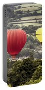Two Hot Air Baloons Drifting Portable Battery Charger