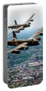 Two Lancasters Over High Wycombe Portable Battery Charger