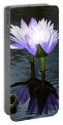 Two Lilies And A Heart Portable Battery Charger