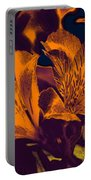 Two Lilies Gradient Ink Outline Portable Battery Charger