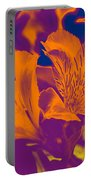 Two Lilies Gradient Portable Battery Charger