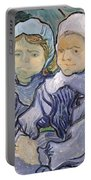 Two Little Girls Portable Battery Charger by Vincent Van Gogh