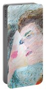 Two Lovers Kissing Portable Battery Charger