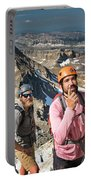Two Male Hiker Stop To Look Portable Battery Charger