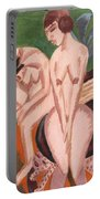 Two Nudes In The Room Portable Battery Charger by Ernst Ludwig Kirchner