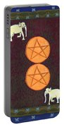 Two Of Pentacles Portable Battery Charger