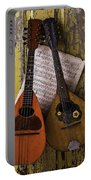 Two Old Mandolins Portable Battery Charger