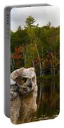 Two Owlets At A Lakeshore Portable Battery Charger