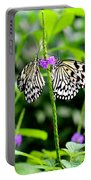 Two Paper Kite Or Rice Paper Or Large Tree Nymph Butterfly Also Known As Idea Leuconoe Portable Battery Charger